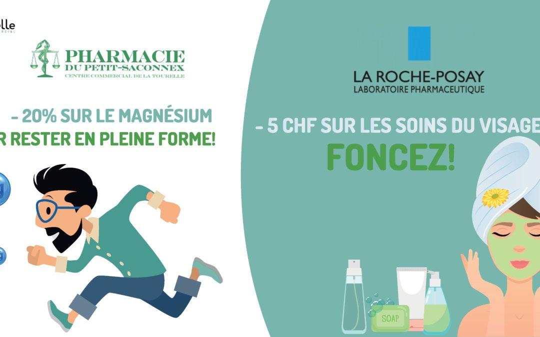 Pharmacie du Petit-Saconnex: -20% sur le magnésium et 5.- de remise sur les soins du visage